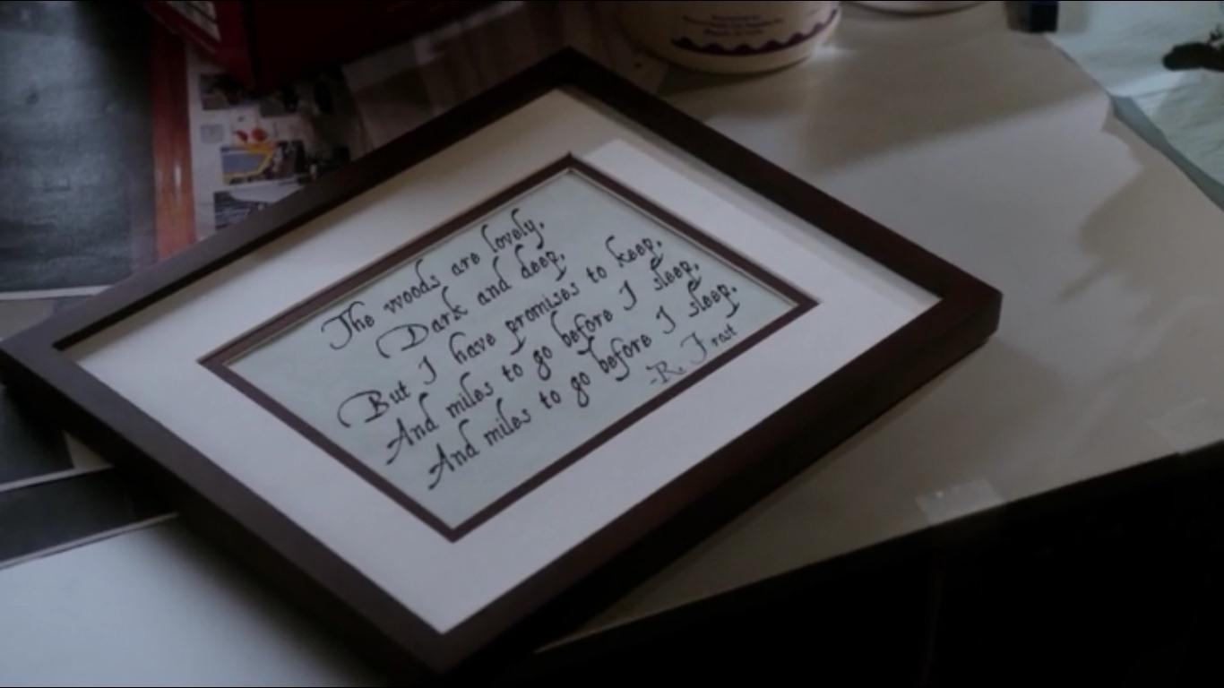 Masm Frase De Robert Frost En El Episodio 1x20 De Elementary